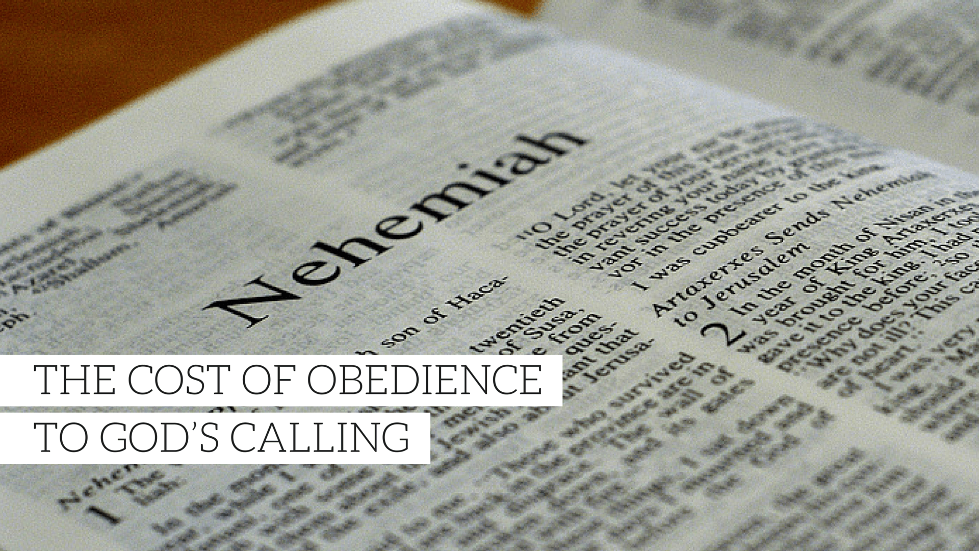 The Cost of Obedience to God's Calling  - Christian Sermons